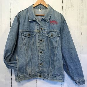 Washburn Guitars Embroidered Blue Jean Jacket XL